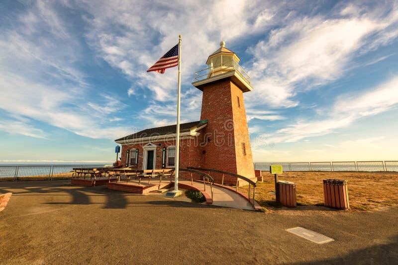 Santa Cruz-vuurtorenmuseum een gedenkteken aan surfers royalty-vrije stock foto's