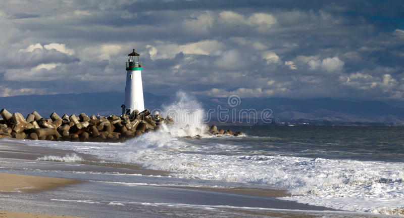 Santa Cruz Walton Lighthouse stock foto's