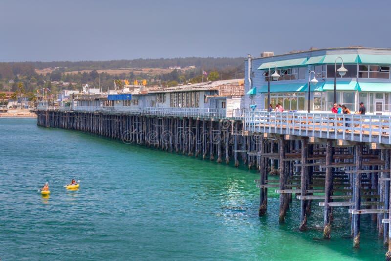 Santa Cruz Wharf imagens de stock royalty free