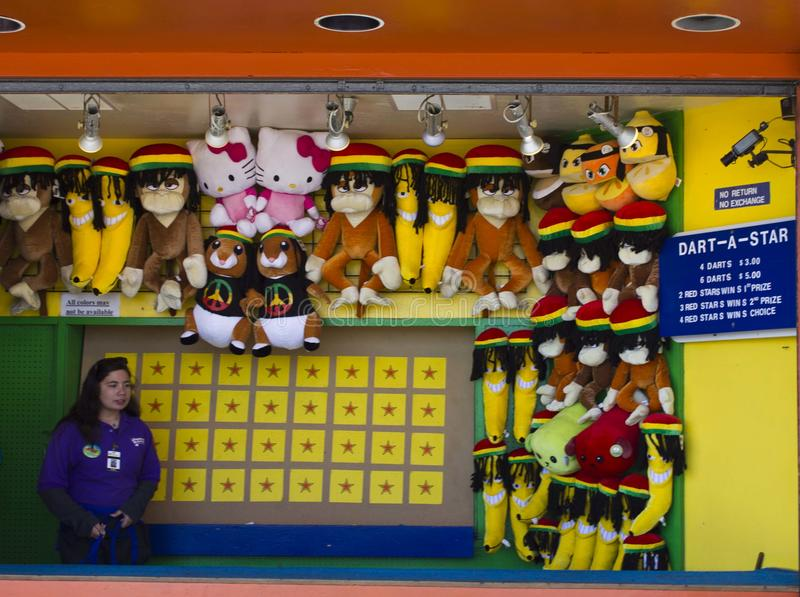 Santa Cruz zabawy park zdjęcia stock