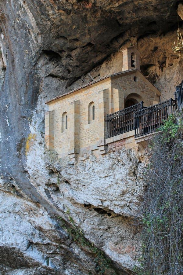 Santa Cueva de Covadonga, Cangas de OnÃs, Espanha fotografia de stock