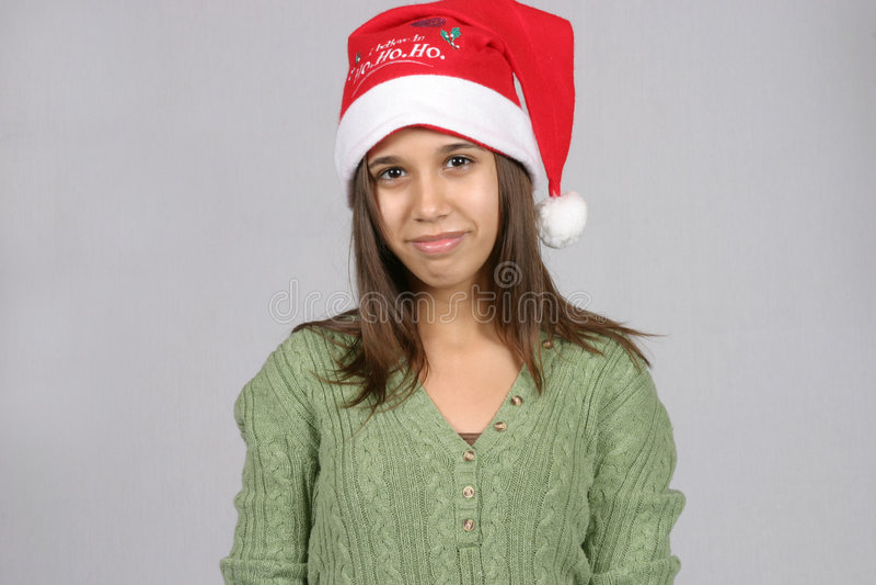 Santa Cutie stock photo