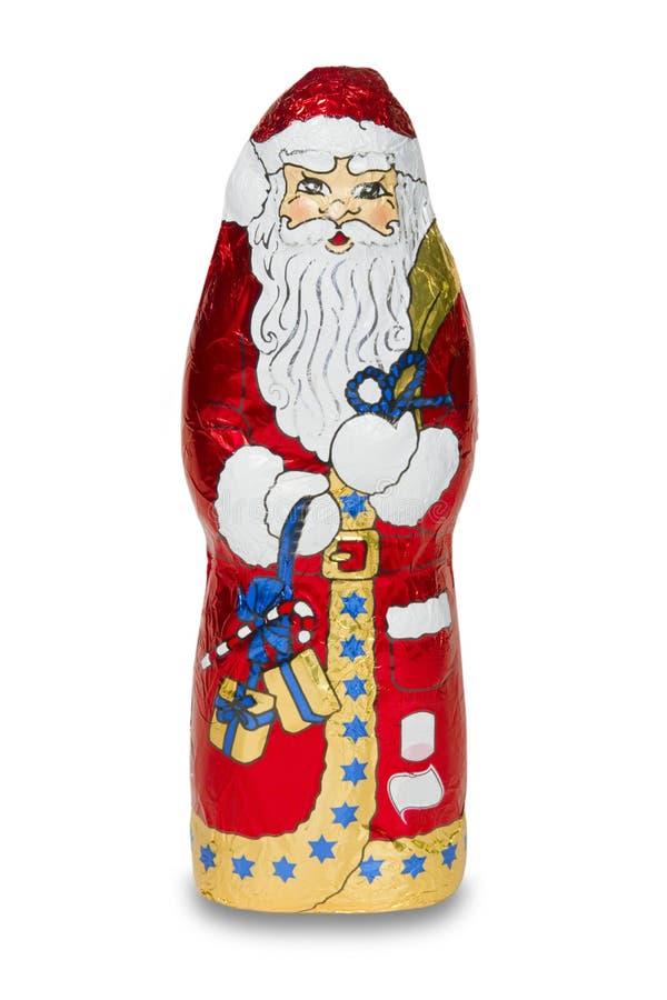 Santa czekoladowe zdjęcie stock