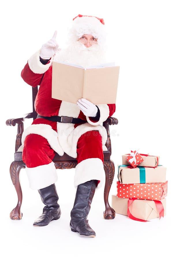 Santa czytelnicza bajka zdjęcia stock
