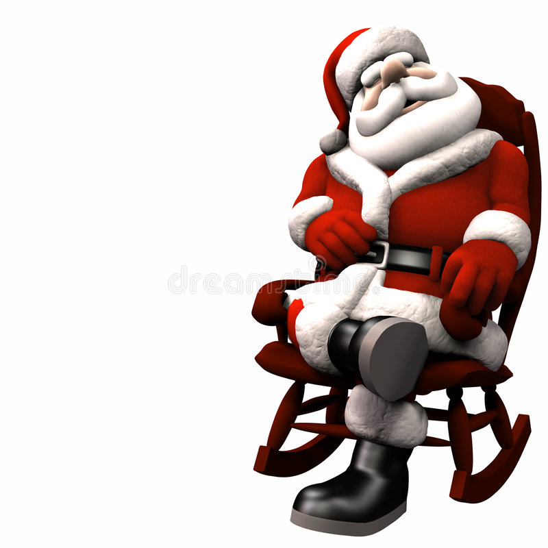 Santa détendant 2 illustration stock