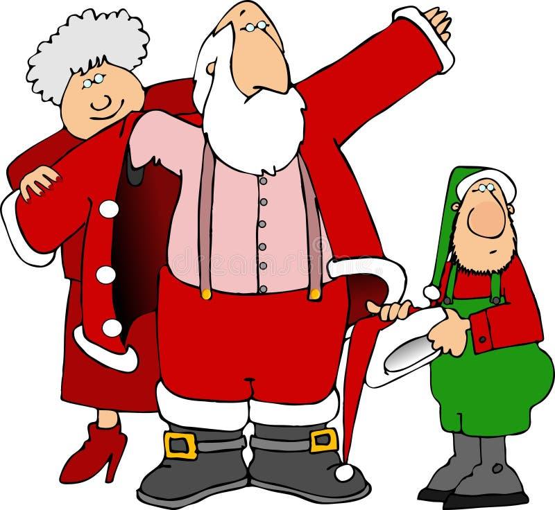 Santa de aide obtiennent rectifiée illustration stock