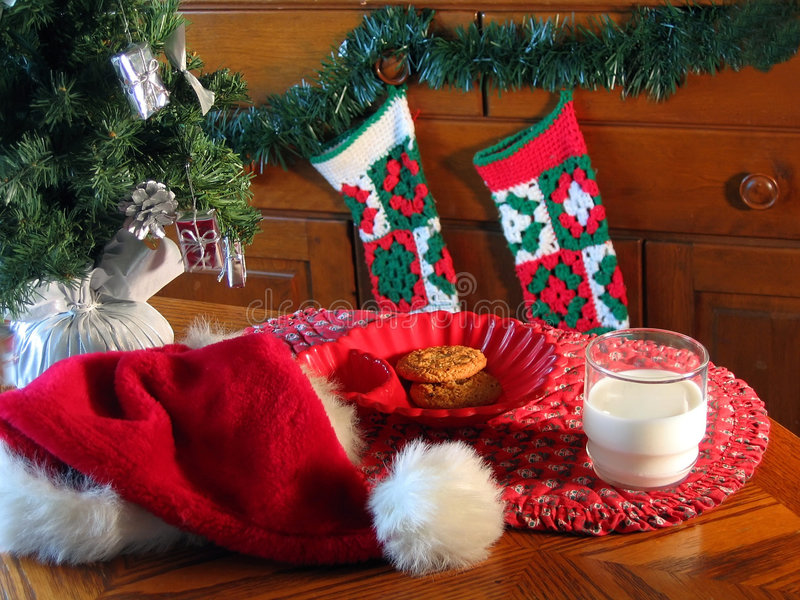 Santa De Espera Imagens de Stock Royalty Free