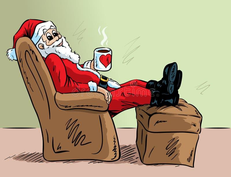 Santa de relaxamento ilustração do vetor
