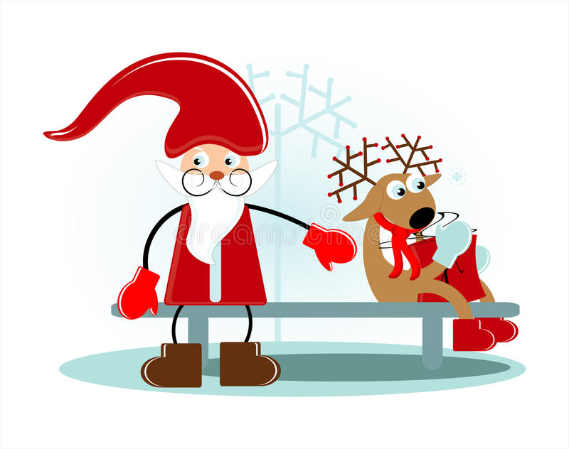 Download Santa With Deer Royalty Free Stock Images - Image: 21713239