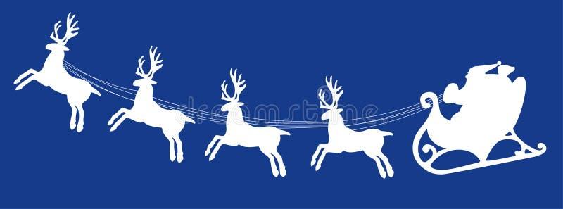 Santa and deers royalty free stock photos