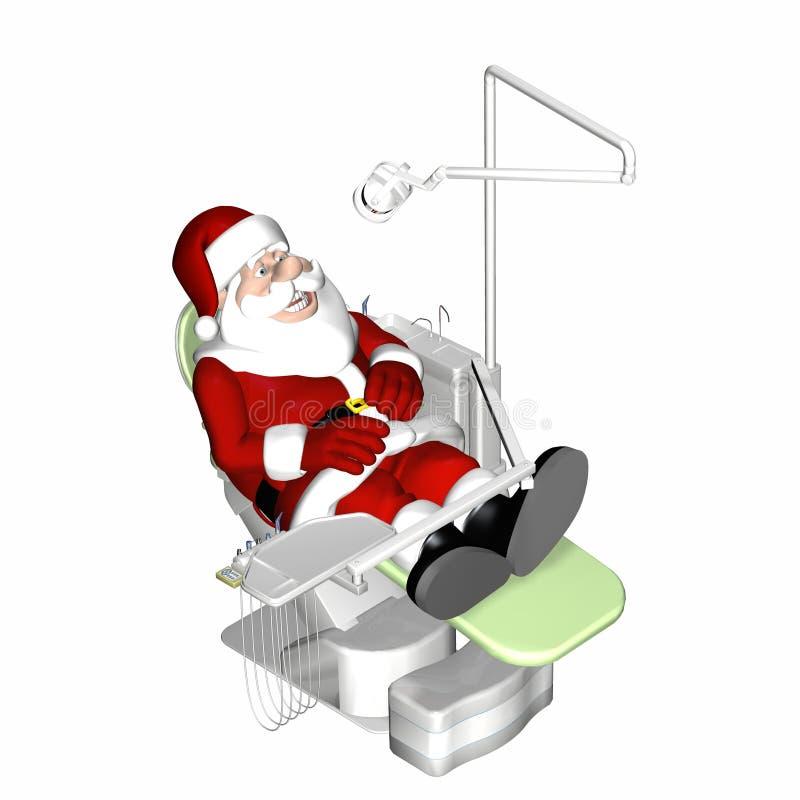 Santa at the dentist stock illustration image of cavity