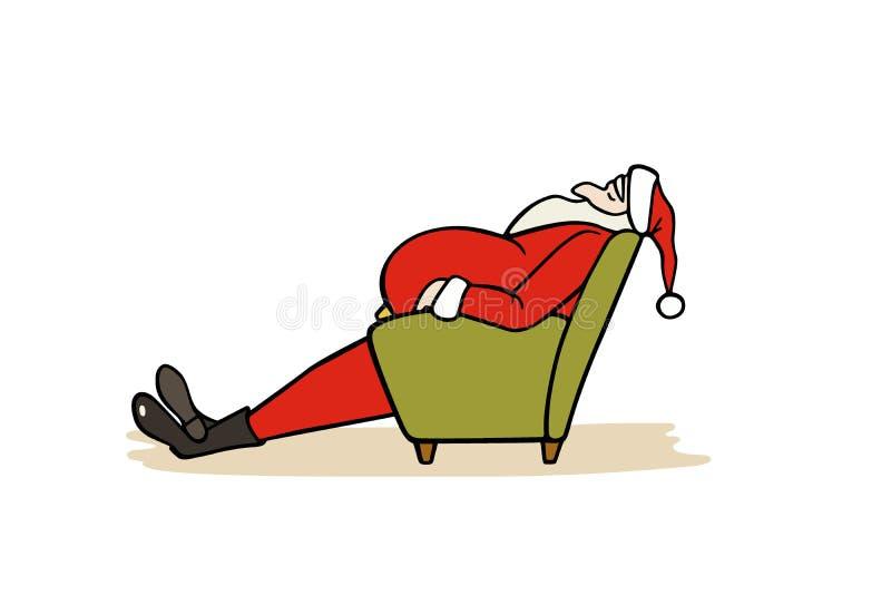Santa desenhada mão ilustração stock