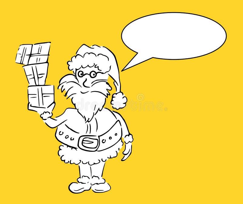 Santa dit quelque chose - vous pouvez ajouter votre propre texte illustration stock