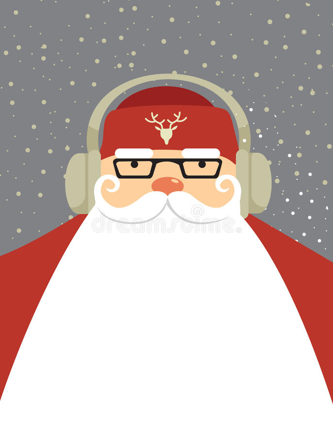 Santa DJ illustrazione di stock