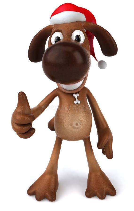 Download Santa dog stock illustration. Illustration of santa, animal - 7282681