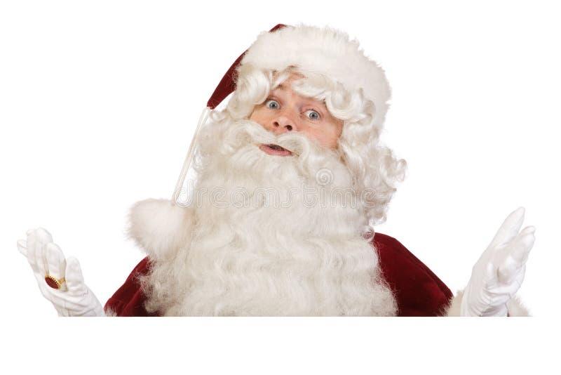 Santa Don T Know Banner Royalty Free Stock Image