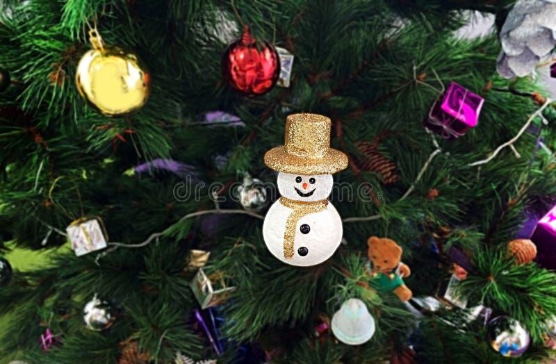 santa dool dekoraci choinka zdjęcie royalty free