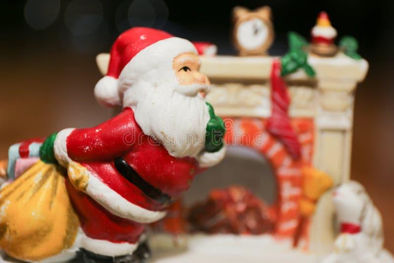 Santa działanie fotografia royalty free