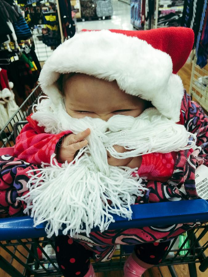 Santa dziecko obrazy stock