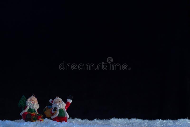 Santa e Santa fotografia stock