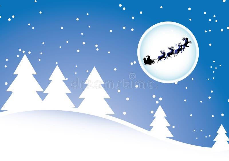 Santa e deers ilustração stock