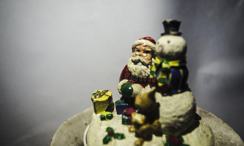 Santa e homem da neve imagem de stock royalty free