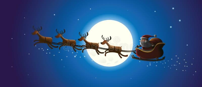 Santa e rena do Natal ilustração do vetor