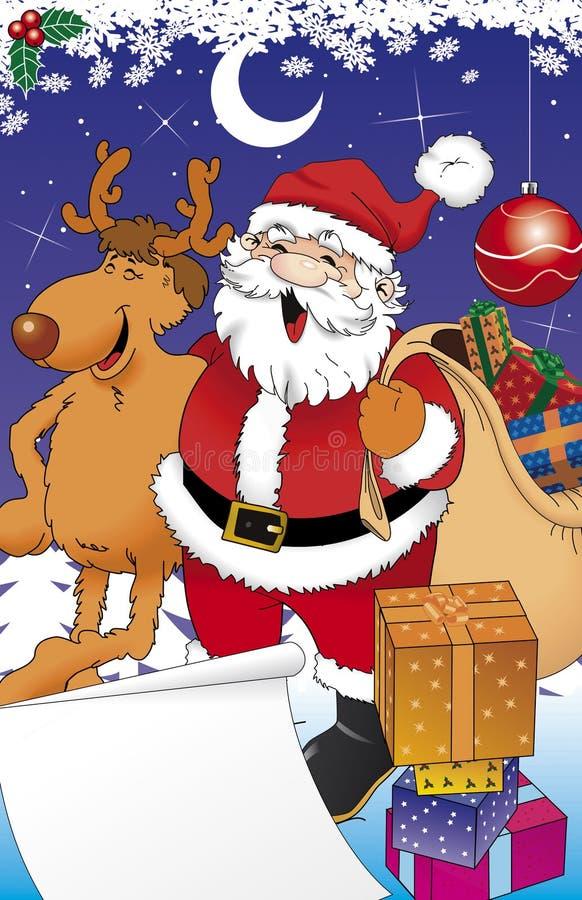Download Santa e reno illustrazione di stock. Illustrazione di slitta - 3878307