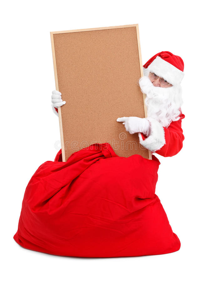 Santa ed albo vuoto immagini stock libere da diritti