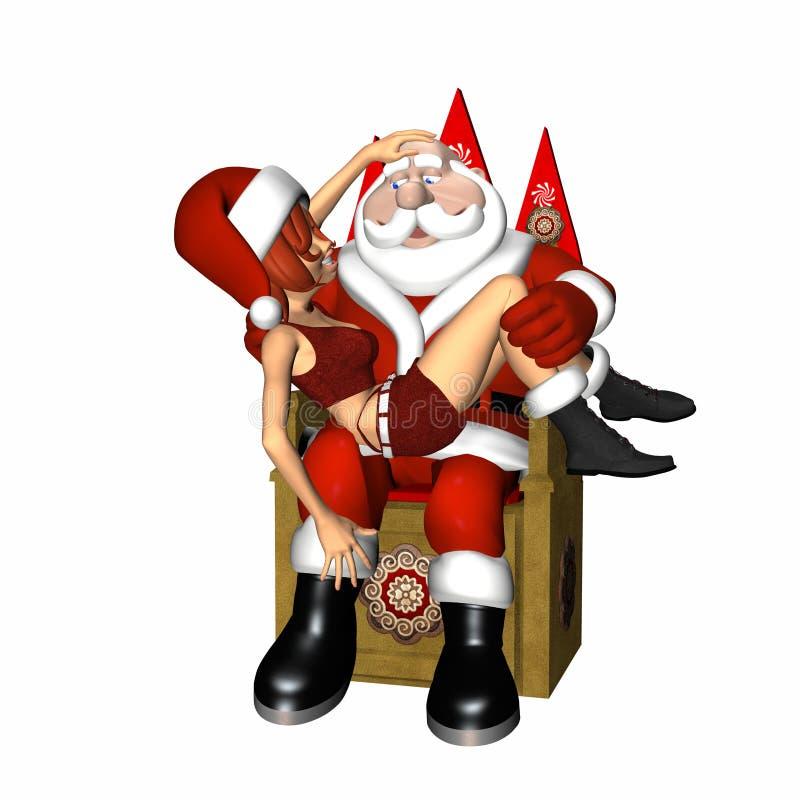 Santa ed assistente 1 illustrazione di stock