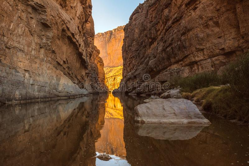 Santa Elena Canyon on the Rio Grand River in Big Bend National Park, Texas royalty free stock images