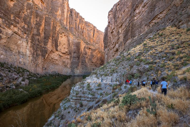 Santa Elena Canyon on the Rio Grand River in Big Bend National Park, Texas royalty free stock photo