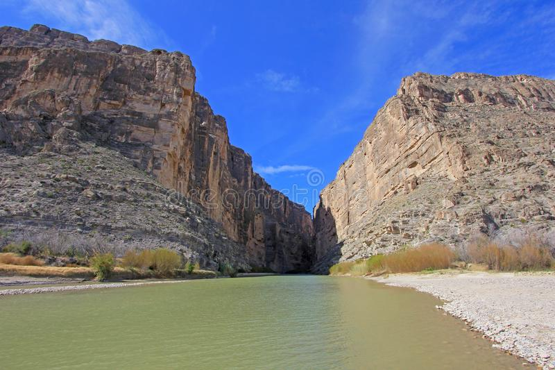 Santa Elena Canyon and Rio Grande river, Big Bend National Park, USA. Santa Elena Canyon and Rio Grande river, Big Bend National Park, Texas, USA stock image