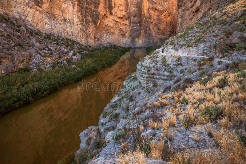 Santa Elena Canyon su Rio Grand River nel grande parco nazionale della curvatura, il Texas immagine stock