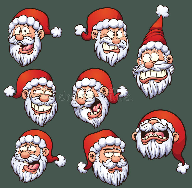 Santa Emoticons libre illustration