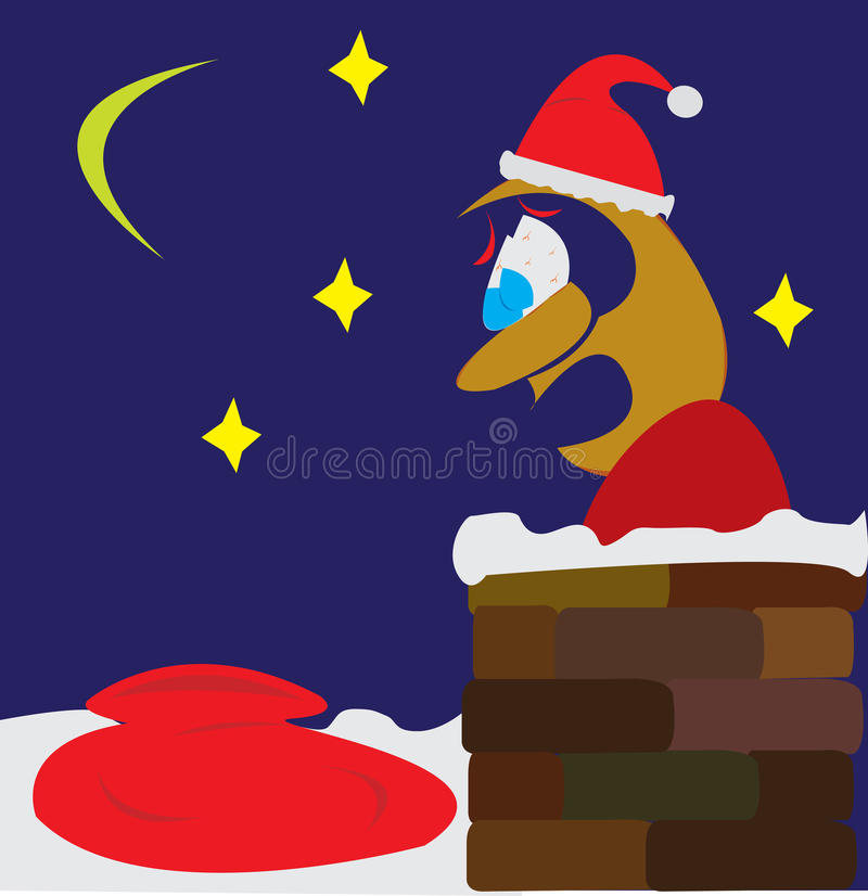 Download Santa employee in panic stock vector. Image of xmas, celebration - 21531259