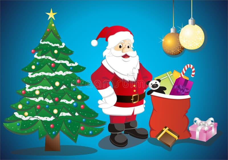 Download Santa en el país ilustración del vector. Ilustración de boots - 7289045