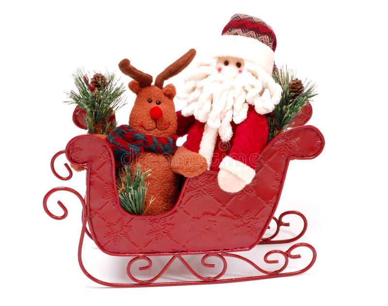 Download Santa en un trineo imagen de archivo. Imagen de ornamento - 7280217