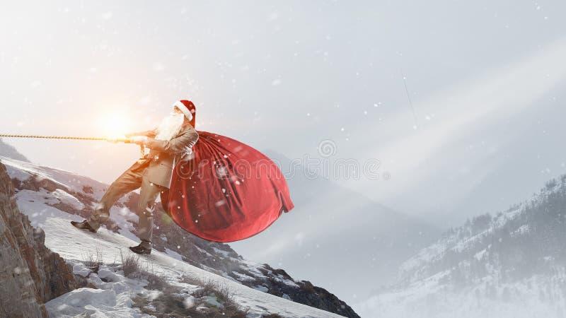 Santa está vindo de qualquer maneira fotografia de stock royalty free