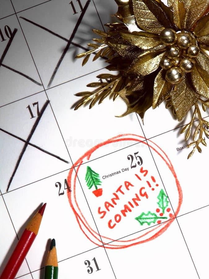 Santa está viniendo imágenes de archivo libres de regalías