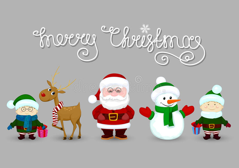 Santa et amis illustration libre de droits
