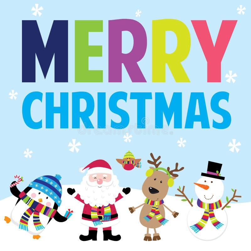 Santa et amis image stock