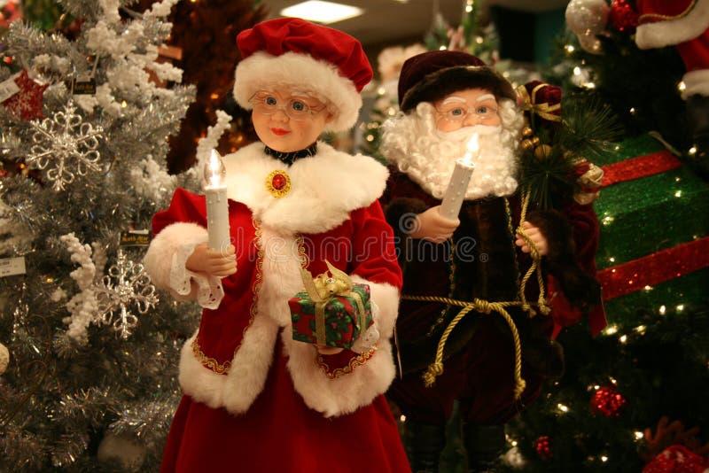 Santa et Mme Claus photographie stock libre de droits