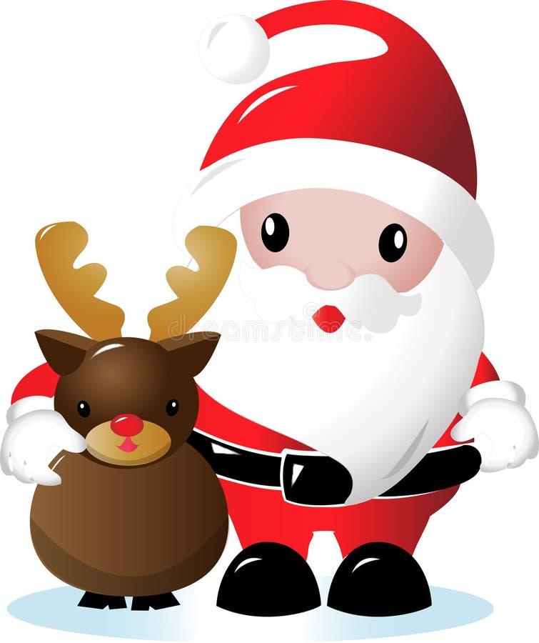 Santa et renne