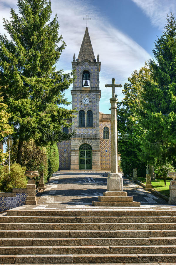 Download Santa Eulalia Church In Pacos De Ferreira Stock Image - Image of catholic, scene: 95570623
