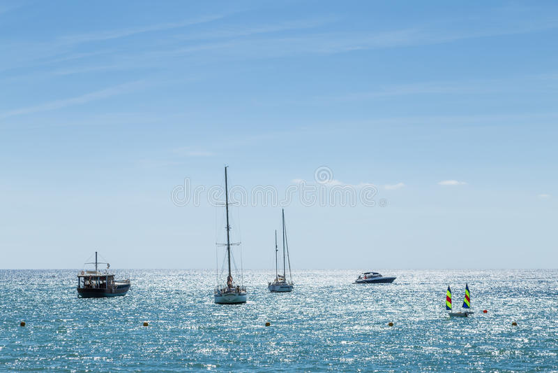 Santa Eulalia des Riu, Ibiza stock afbeelding