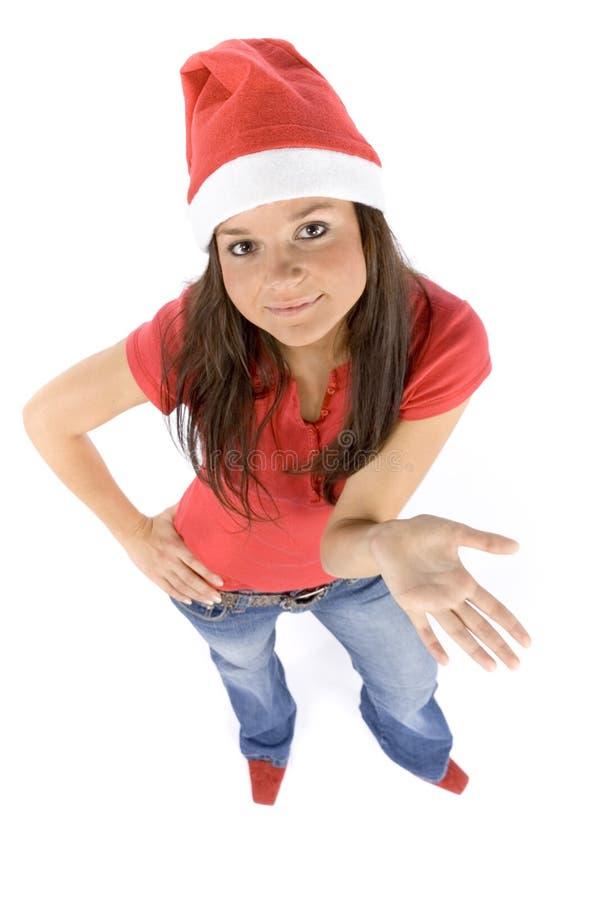 Santa fêmea nova e atrativa foto de stock royalty free