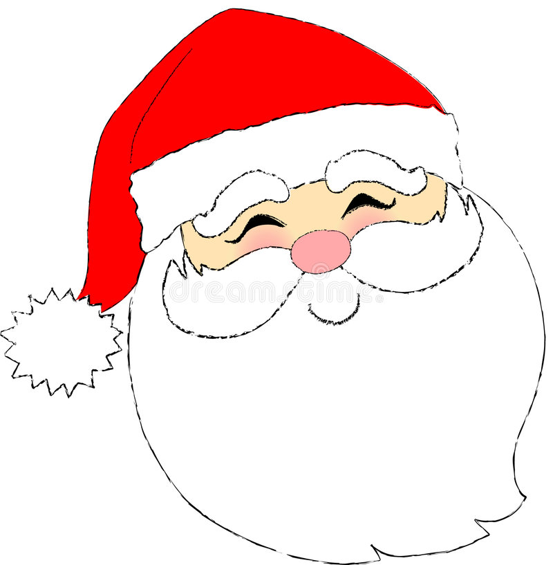 santa face stock illustration illustration of holiday 663460 rh dreamstime com santa face silhouette clip art santa face clip art free printable