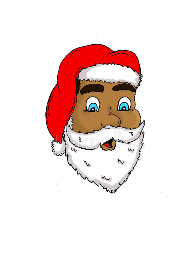 Santa face royalty free stock photos