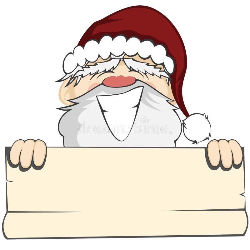 Santa Faces stock de ilustración